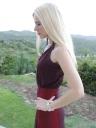 Victoria's Secret Dress, Gucci Pumps. Hermes Arcane Sterling Silver cuff, Dolittle Jewelry Tassel Earrings